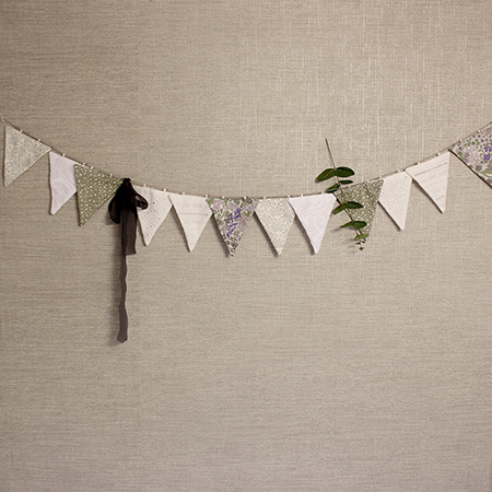 [가랜드]Fabric Garland SET _Pure white Forest(12ea) +유칼립투스 + 쉬폰리본
