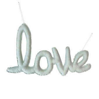 {린넨러브가랜드}Linen LOVE Cushion Garland_Mint