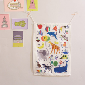 알파벳 패브릭 월데코 Alphabet Fabric Poster(Garland)